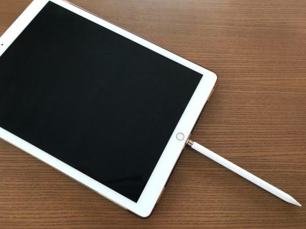 iPad Proに差し込むだけで充電