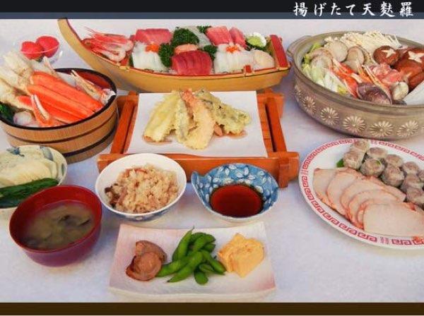 天ぷらやお刺身