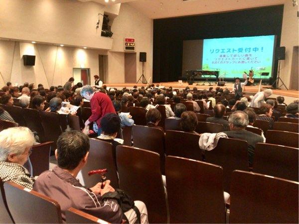 杉山公章さんの歌声コンサート開演前ホール