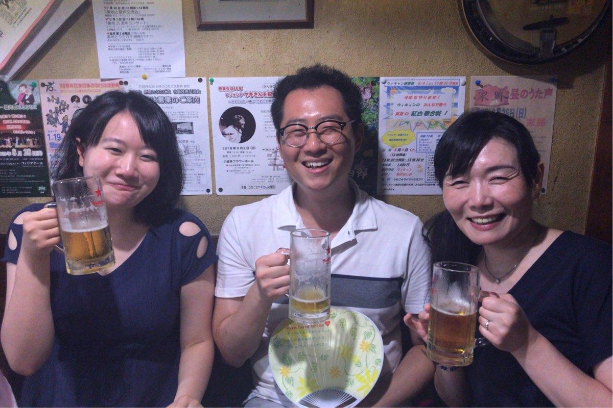 李俊熙さん、お友達のゆみさん、円谷さん